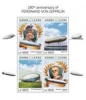 Sierra Leone  2018    Ferdinand Von Zeppelin    S201808 - Sierra Leone (1961-...)