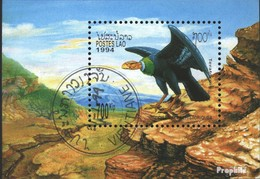 Laos Block148 (complete Issue) Fine Used / Cancelled 1994 Prehistoric Birds - Laos