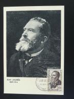 Carte Maximum Card Socialisme Jean Jaures Castres 81 Tarn 1959 (adhérences) - 1950-59