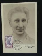 Carte Maximum Card Héros De La Résistance Yvonne Le Roux 83 Toulon Var 1959 - Seconda Guerra Mondiale