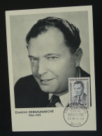 Carte Maximum Card Héros De La Résistance Edmond Debeaumarché Paris 1960 - Seconda Guerra Mondiale