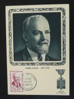 Carte Maximum Card Héros De La Résistance Pierre Masse Riberac 24 Dordogne 1960 - WW2 (II Guerra Mundial)