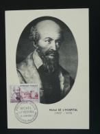Carte Maximum Card Michel De L'Hospital 63 Aigueperse Puy De Dome 1960 - 1960-69