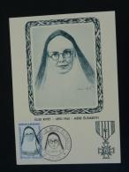 Carte Maximum Card Héros De La Résistance Mère Elisabeth Lyon 1961 - Guerre Mondiale (Seconde)