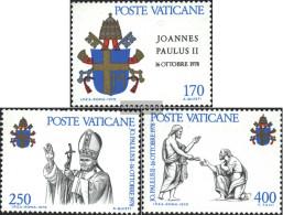 Vatikanstadt 736-738 (complete Issue) Unmounted Mint / Never Hinged 1979 Johannes Paul II. - Vatican