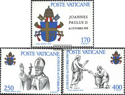 Vatikanstadt 736-738 (complete Issue) Unmounted Mint / Never Hinged 1979 Johannes Paul II. - Unused Stamps