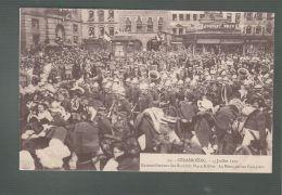 CPA (67) Strasbourg  -  14 Juillet 1919 -  Rassemblement Des Sociétés Place Kléber -  Musique Des Pompiers - Strasbourg