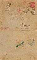 Colonias Francesas / Cuba. 1896. ø 98 En Lettre Recomandée Barbarie-Tripoli/La Habana. TB Et Rare. - Sage