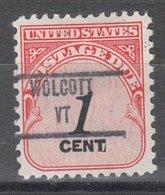 USA Precancel Vorausentwertung Preo, Locals Vermont, Wolcott 853 - Vereinigte Staaten