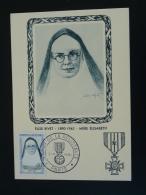 Carte Maximum Card Héros De La Résistance Mère Elisabeth Paris 1961 - Guerre Mondiale (Seconde)