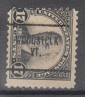 USA Precancel Vorausentwertung Preo, Locals Vermont, Woodstock 623-704 - Vereinigte Staaten