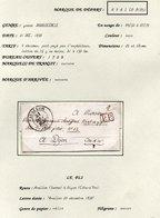1838 Montigny Avallon > Hyacinte Audiffred Négociant Rue De Petit Potet 12 à Dijon 4 Décimes (EO4-44) - 1801-1848: Vorläufer XIX