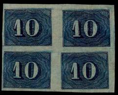 Brasil. #19. 10 Cr. Block Of 4 Not Perfored. - Brasil