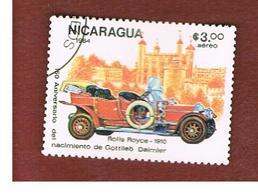 NICARAGUA - SG  2603    -    1984  150^ ANNIV. GOTTLIEB DAIMLER: ROLLS ROYCE 1910  -  USED° - Nicaragua