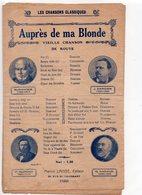 PARTITION MUSIQUE.AUPRES DE MA BLONDE.LABBE.CHANSON DE ROUTE  Achat Immédiat - Partitions Musicales Anciennes