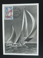 Carte Maximum Card Bateau Voilier Yacht Polynesie Francaise 1966 - Maximum Cards