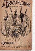 PARTITION MUSIQUE. LA BRABANCONNE.CHANT NATIONAL BELGE.CAMPENHOUT  Achat Immédiat - Partitions Musicales Anciennes