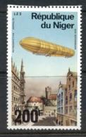 Niger 1976 Zeppelin 75th Anniv. 200f MUH - Niger (1960-...)
