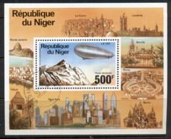 Niger 1976 Zeppelin 75th Anniv. MS CTO - Niger (1960-...)