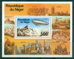 Niger 1976 Zeppelin 75th Anniv. MS MUH - Niger (1960-...)