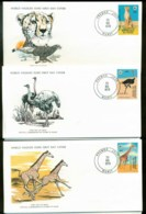 Niger 1978 WWF,Ostrich, Cheetah, Giraffe ,Franlkin Mint (with Inserts) 3xFDC Lot79620 - Niger (1960-...)