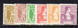 326/1500 - SVIZZERA 1907 , Serie Unificato N. 113/118  ***  MNH - Nuovi