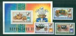 Niger 1981 Charles & Diana Wedding + MS MUH Lot45119 - Niger (1960-...)