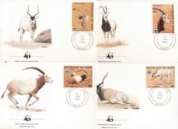 Niger 1985 WWF Desert Antelope FDC - Niger (1960-...)