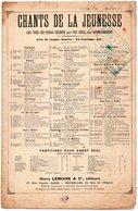 PARTITION MUSIQUE.CHANTS DE LA JEUNESSE.MAITRE PATHELIN.OPERA COMIQUE DE F.BAZIN.  Achat Immédiat - Partitions Musicales Anciennes