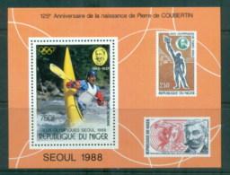Niger 1988 Olympics, Pierre De Coubertin MS MUH - Niger (1960-...)