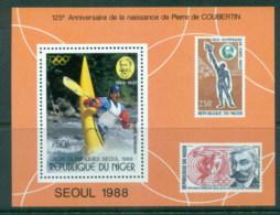 Niger 1988 Summer Olympics, Seoul MS MUH - Niger (1960-...)