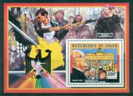 Niger 1991 Brandenburg Gate, Helmut Kohl MS MUH - Niger (1960-...)