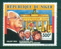 Niger 1991 Brandenburg Gate, Helmut Kohl MUH - Niger (1960-...)