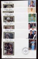 Niger 1997 Princess Diana In Memoriam 6x FDC - Niger (1960-...)