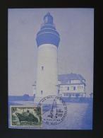 Carte Postcard Phare Lighthouse Expo Philatélique La Mer 80 Ault Somme 1973 - Phares