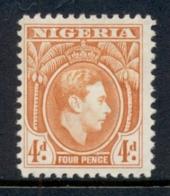 Nigeria 1938-51 KGVI Pictorial 4d KGVI Portrait Orange MLH - Nigeria (1961-...)