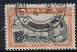 Nigeria 1938-51 KGVI Pictorial 5/- Niger At Jebba Perf 12 FU - Nigeria (1961-...)