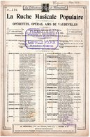 PARTITION MUSIQUE.RUCHE MUSICALE POPULAIRE.ROMANCE DE MIGNON.CARRE Et BARBIER. AMBROISE THOMAS  Achat Immédiat - Partitions Musicales Anciennes