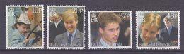 Falkland Islands 2000 Prince William 4v ** Mnh (40629) - Falklandeilanden