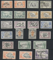 Nigeria 1953-57 QEII Pictorials Assorted FU/MLH - Nigeria (1961-...)