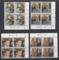 Falkland Islands 2000 Prince William 4v  Bl Of 4 (corners) ** Mnh (40629A) - Falklandeilanden