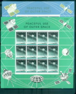 Nigeria 1963 Peaceful Use Of Outer Space 2x Sheetlets MLH - Nigeria (1961-...)