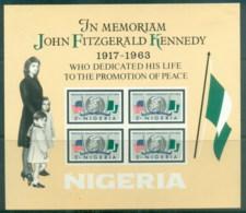 Nigeria 1964 JFK Kennedy IMPERF MS MLH - Nigeria (1961-...)