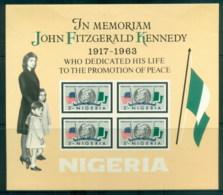 Nigeria 1964 JFK, Kennedy In Memoriam MS MUH - Nigeria (1961-...)