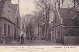 3575373Krommenie, Dorpstraat (poststempel 1906)(minuscule Vouwen In De Hoeken) - Krommenie