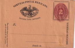MEXIQUE ENTIER POSTAL BANDE-JOURNAL - Mexique