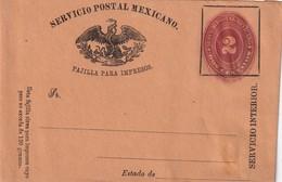 MEXIQUE ENTIER POSTAL BANDE-JOURNAL - Mexico