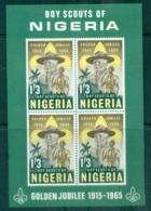 Nigeria 1965 Nigerian Boy Scouts 50th Anniv. MS MLH - Nigeria (1961-...)