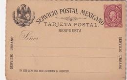 MEXIQUE ENTIER POSTAL CARTE AVEC REPONSE - Mexico