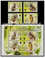 Wwf Owls Single Set + Sheet 2011 Iran - Owls